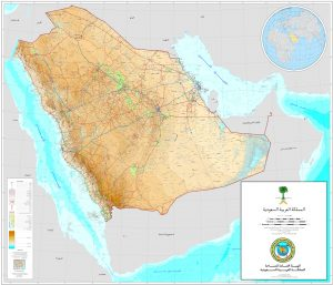 خريطة الصم في المملكة العربية السعودية