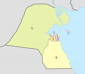 خريطة مدن الكويت