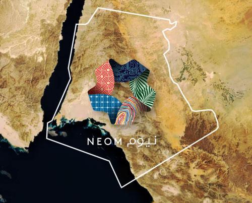 الخريطة والأهداف المستقبلية لمشروع نيوم