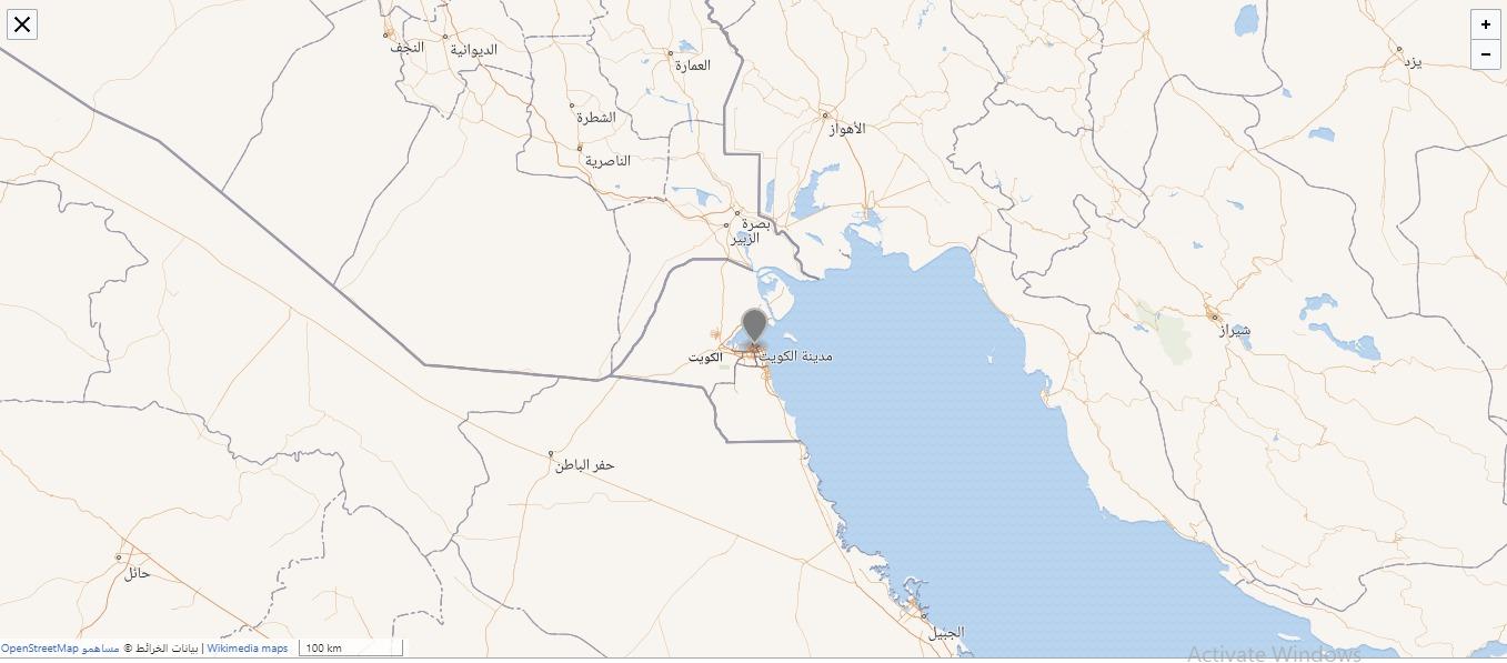 خريطة مدينة الكويت