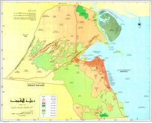 الكويت خريطة المناطق