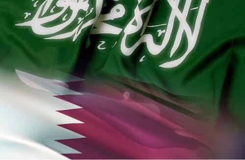 صور علم دولة قطر والمملكة العربية السعودية 2021